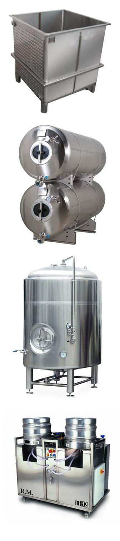 Komponenty a technologické vybavení pivovarů