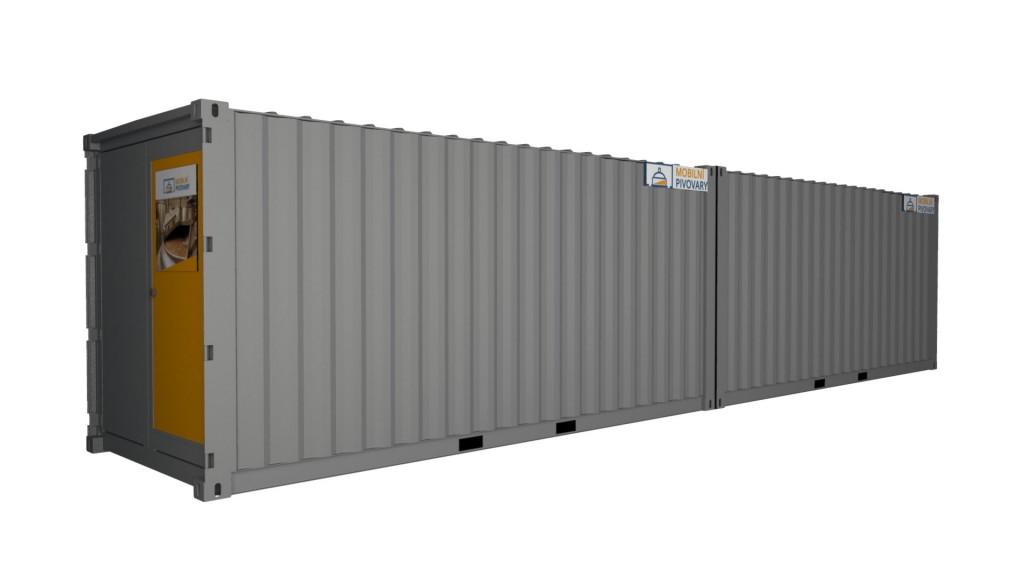 2-kontejnerový minipivovar MOBBEER - sériové sestavení