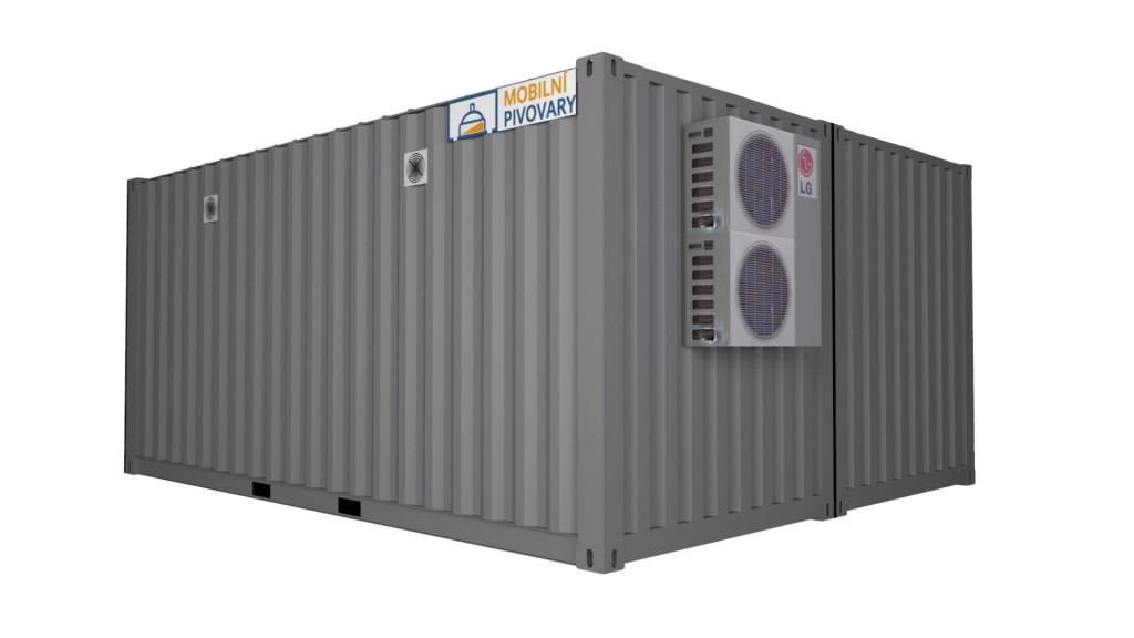 2-kontejnerový minipivovar MOBBEER - paralelní sestavení