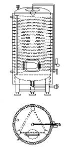 Servisní přetlačné tanky vertikální izolované