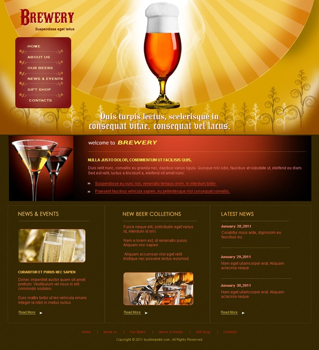 Brewery website promotion
