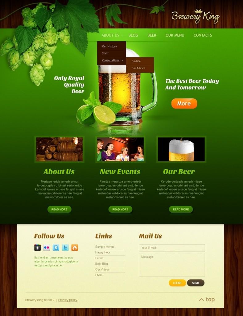 Vytváření webových stránek pro pivovary
